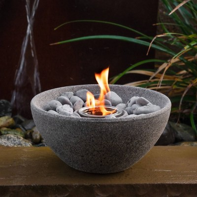 Basin Outdoor Table Top Fire Bowl - Graphite - Terra Flame