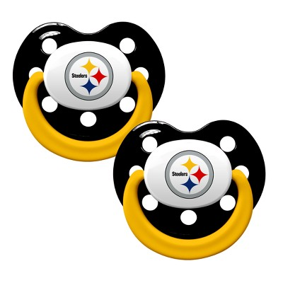 Pittsburgh Steelers 2pk Pacifier Set with Handle