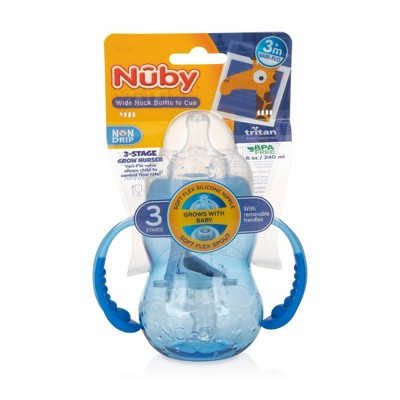 Nuby 3-Stage Trainer Cup - Blue - 8oz