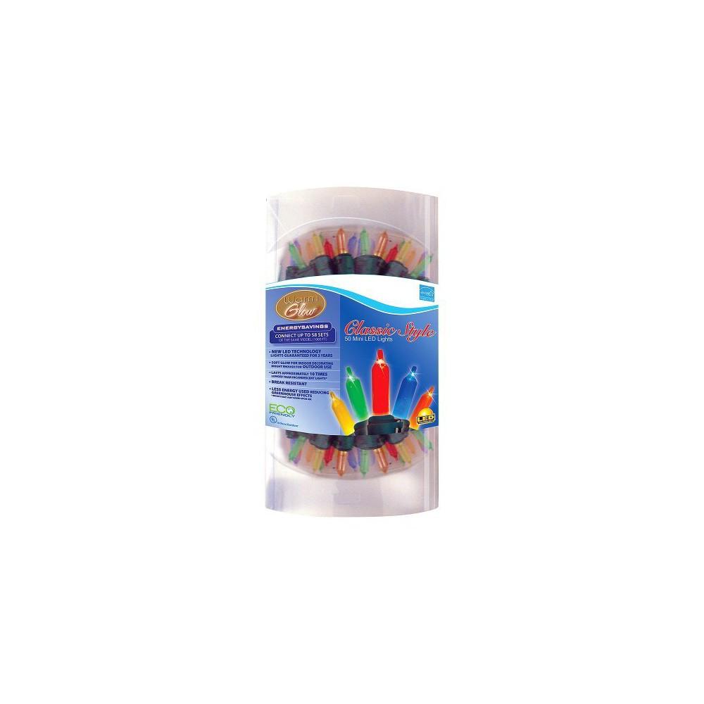 50ct LED Warm Glow Mini String Lights Multicolor - Brite Star Best