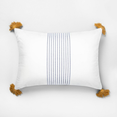 Center Stripes Tassel Throw Pillow - Hearth & Hand™ with Magnolia - image 1 of 4