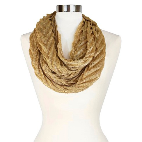Women's Infinity Fashion Scarf Chevron - Sylvia Alexander - image 1 of 2