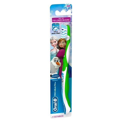 Oral-B Pro-Health Jr. CrossAction Disney Frozen Manual Kids Toothbrush with FREE Disney Magic Timer App - 1ct - image 1 of 4