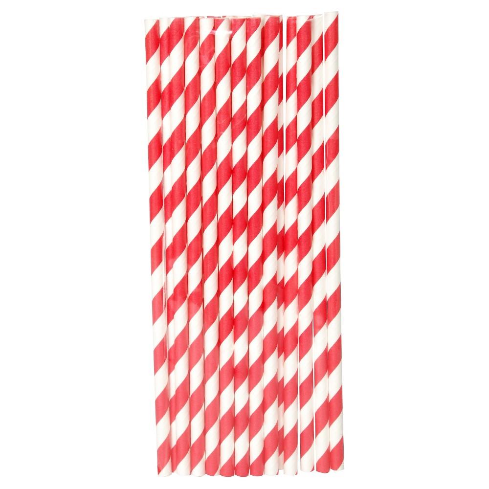 20ct Red Paper Straw - Spritz