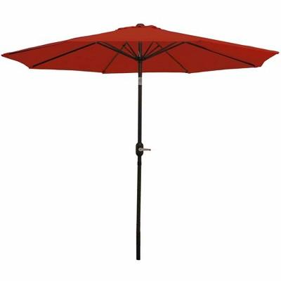 Aluminum Market Tilt Patio Umbrella 9' - Burnt Orange - Sunnydaze Decor