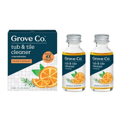 Grove Co. Tub & Tile Cleaning Concentrate - Orange & Rosemary - 2pk