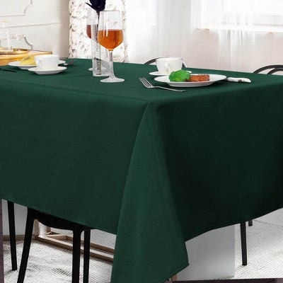 """60""""x104"""" Rectangle Polyester Stain Resistant Solid Tablecloths Green - PiccoCasa"""