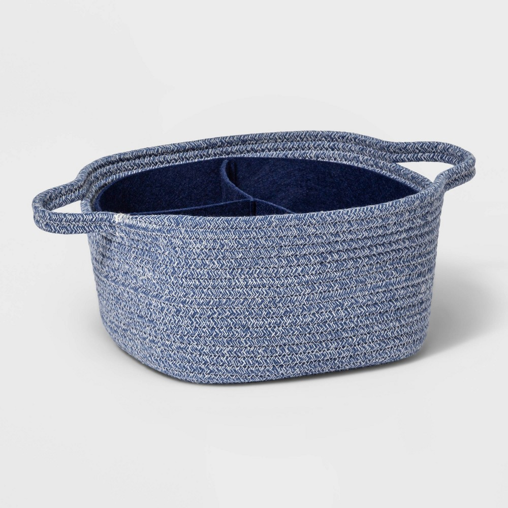 Square Storage Bin With Dividers Cloud Island 8482 Navy M