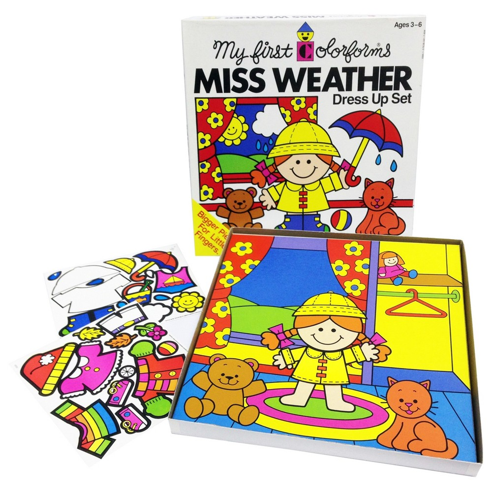 Image of Colorforms Create a Story Miss Weather Re-Stickable Playset