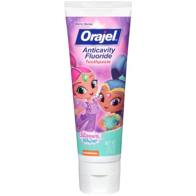 Orajel Shimmer and Shine Anticavity Fluoride Toothpaste - 4.2oz
