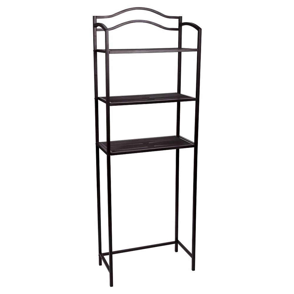 Image of Household Essentials 3-Tier Decorative Bath Shelf - Brown