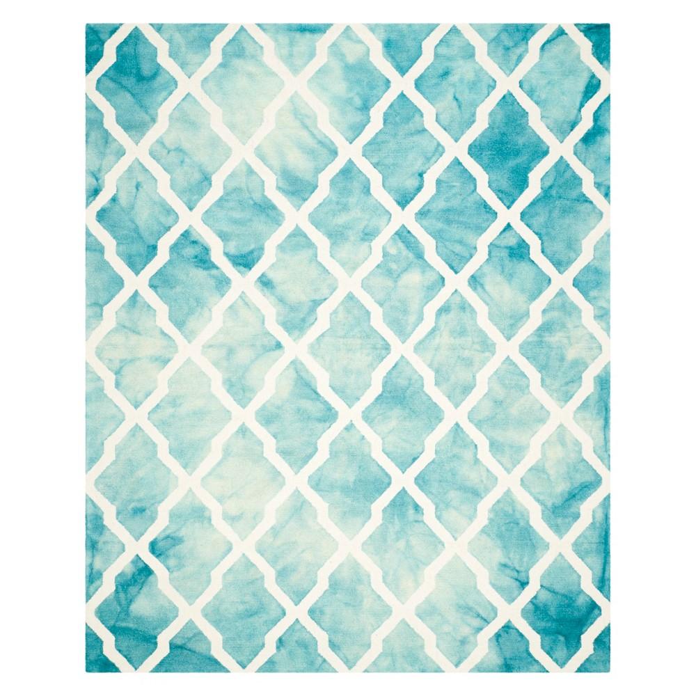 8 X10 Quatrefoil Design Area Rug Turquoise Ivory Safavieh