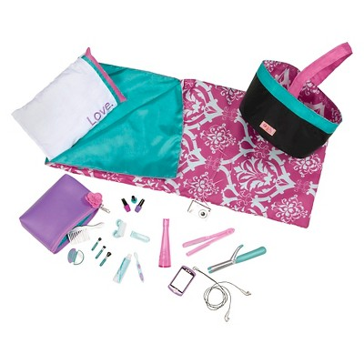 """Our Generation Slumber Party with Sleeping Bag Doll Accessory Set for 18"""" Dolls"""