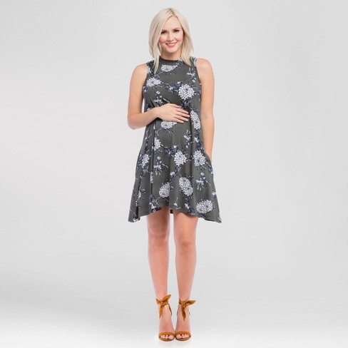 Maternity Floral Swing Dress w/ Pockets - Expected by Lilac - image 1 of 3