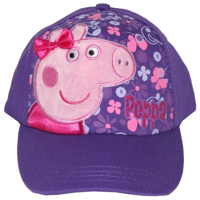 Toddler Girls' Peppa Pig Baseball Hat - Purple