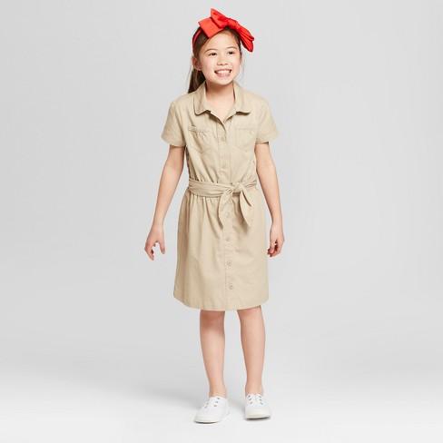 e11ad63d7508 Girls' Front Tie Line Uniform Dress - Cat & Jack™ : Target