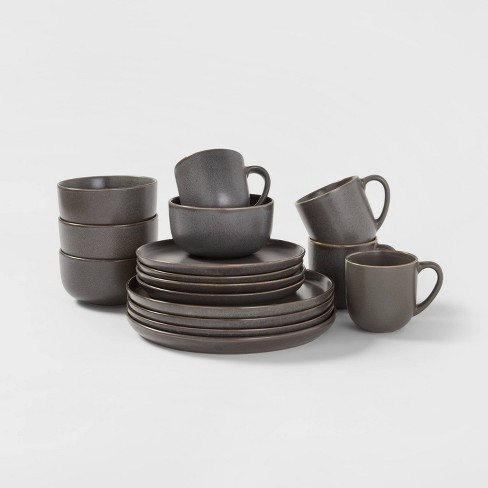 16pc Stoneware Tilley Dinnerware Set Brown - Project 62™ - image 1 of 4