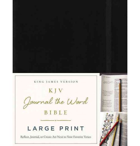 KJV Journal the Word Bible : King James Version, Black, Reflect, Journal, or Create Art Next to Your - image 1 of 1