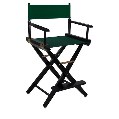 Extra Wide Directors Chair  - Black Frame -Evergreen  - Casual Home - image 1 of 1