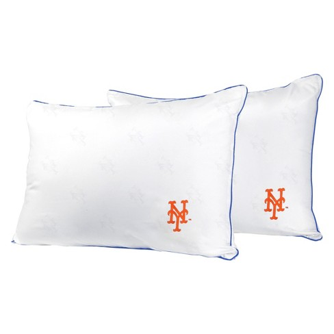MLB New York Mets White Embroidered Bed Pillow 2pk - image 1 of 1