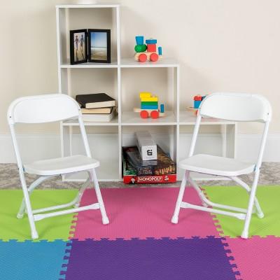 Flash Furniture 10 Pack Kids Plastic Folding Chair