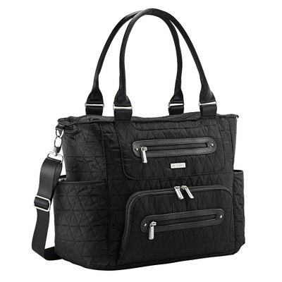 JJ Cole Caprice Tri-Stitch Diaper Bag - Black