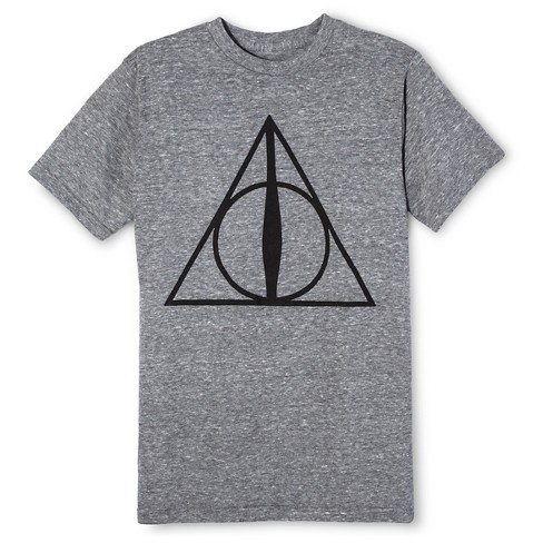 Men's Harry Potter® Deathly Hallows T-Shirt - Gray - image 1 of 1