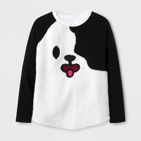 Girls' Toca Boca® Cozy Long Sleeve Raglan T-Shirt - Black - image 1 of 1