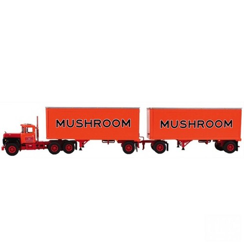 Mack R Model Truck Mushroom With Dual 28' Pup Trailers 1/64 by First Gear - image 1 of 1