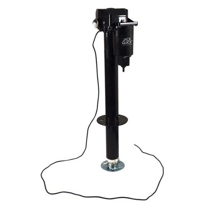 Quick Products JQ-3000 2.25 Inch Water Resistant 3,250 Pounds Electric Tongue Jack with Dual LED Work Lights and Manual Crank Override