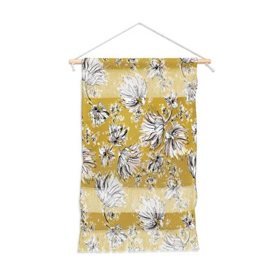 """11"""" x 15.5"""" Small Pattern State Floral Meadow Fiber Wall Hanging - Deny Designs"""