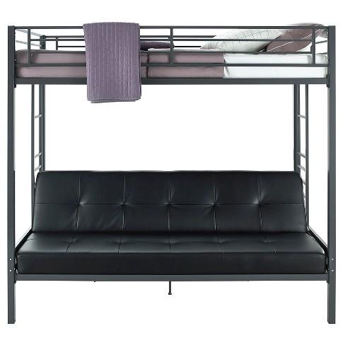 Jasper Premium Twin Over Futon Bunk Bed With Black Mattress Dorel Home Products Target