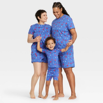 Americana Stars Matching Family Pajamas Collection - Blue