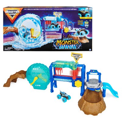 Monster Jam 1:64 Scale  TV Driver Playset - Car Wash