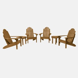 6pc Classic Westport Adirondack Patio Set - highwood