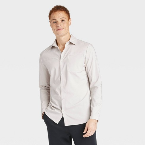 Men's Long Sleeve Button-Up T-Shirt - All in Motion™ - image 1 of 4