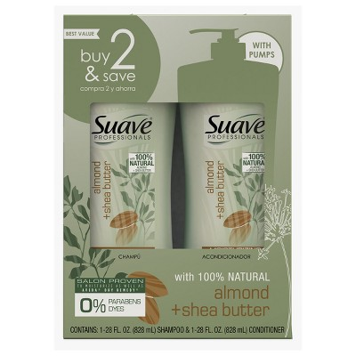 Suave Professionals Almond and Shea Butter Shampoo and Conditioner - 56 fl oz
