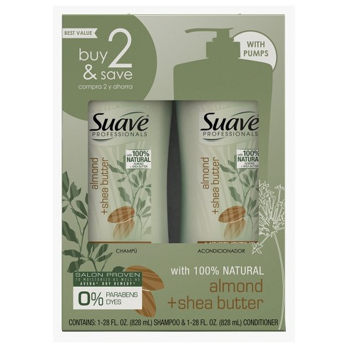 Suave Professionals Almond and Shea Butter Shampoo and Conditioner - 56 fl oz - image 1 of 4