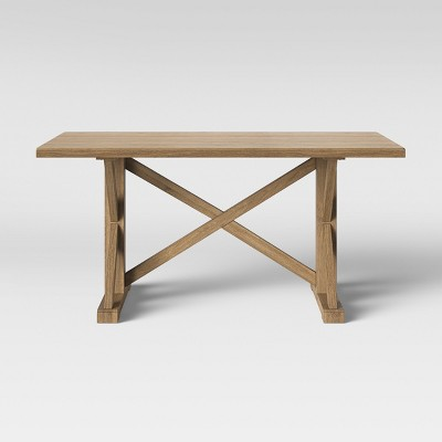 """62"""" Litchfield Rectangle Dining Table Brown   Threshold™ by Shop Collections"""