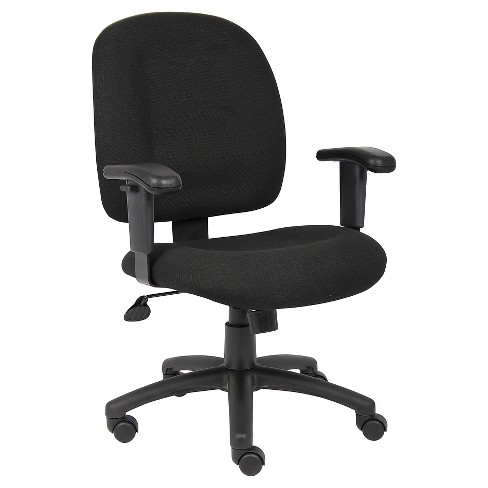 Fabric Task Chair with Adjustable Arms Black - Boss Office Products - image 1 of 4