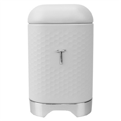 Michael Graves Design Soho Large 7 Cup Capacity Tin Tea Canister, White
