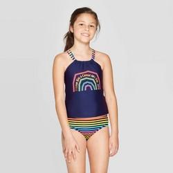 "Girls' ""Chase The Rainbow"" Tankini Set - Cat & Jack™ Navy"