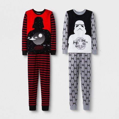 Boys' Star Wars 4pc Pajama Set - Red/Gray - image 1 of 1