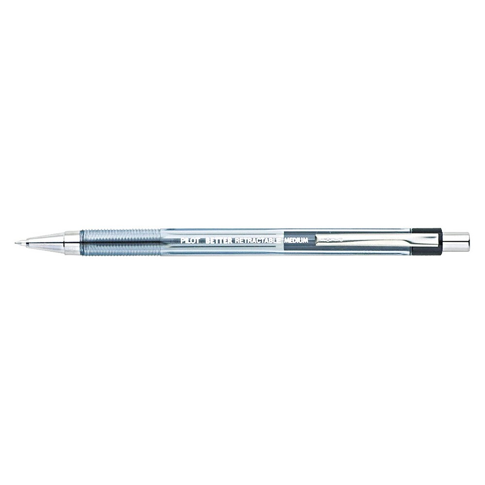 Image of Pilot 12ct Better Retractable Ballpoint Pens Medium Point 1.0mm Black