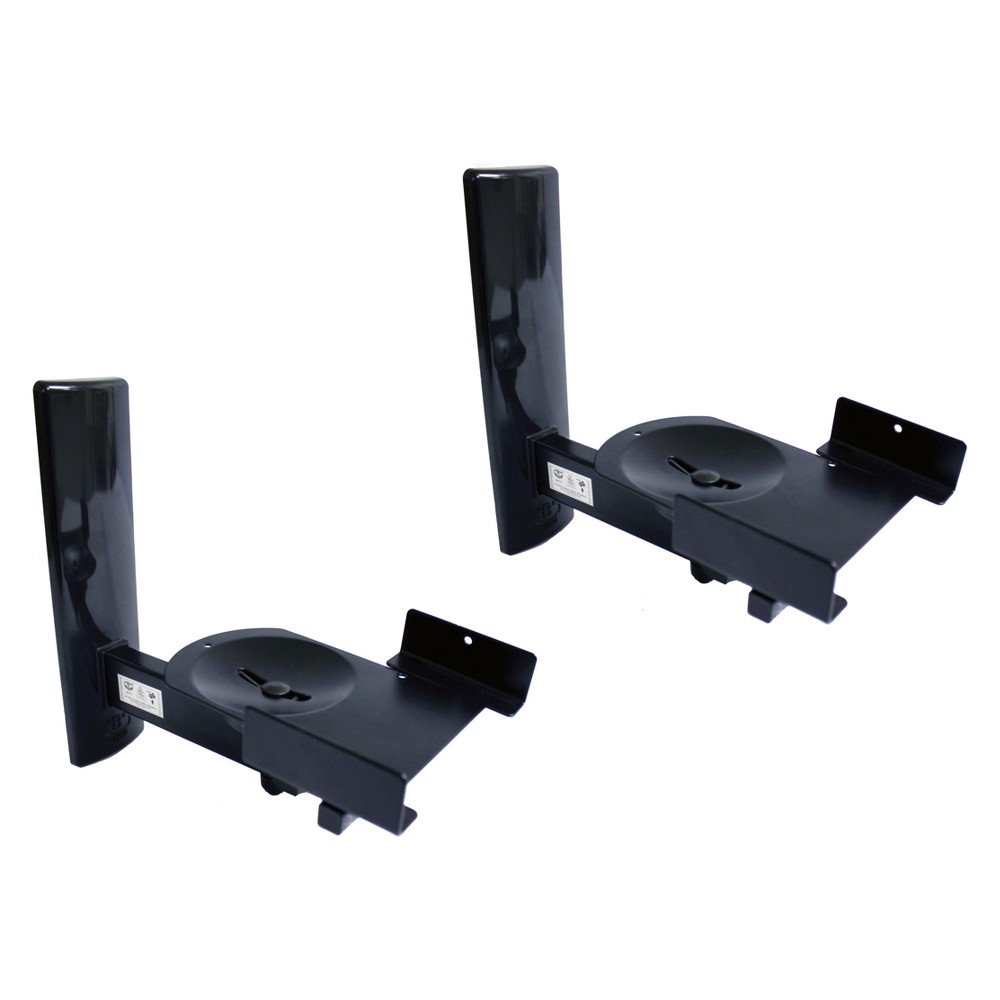 Image of Set of 2 Bt77 Ultragrip Pro Speaker Mount Side Clamp with Tilt & Swivel Black - B-Tech