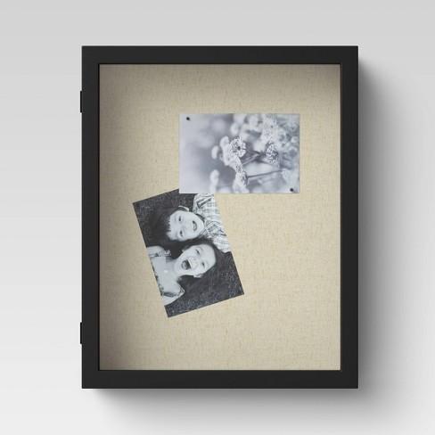 "11"" X 14"" Classic Linen Shadow Box Black - Threshold™ - image 1 of 4"