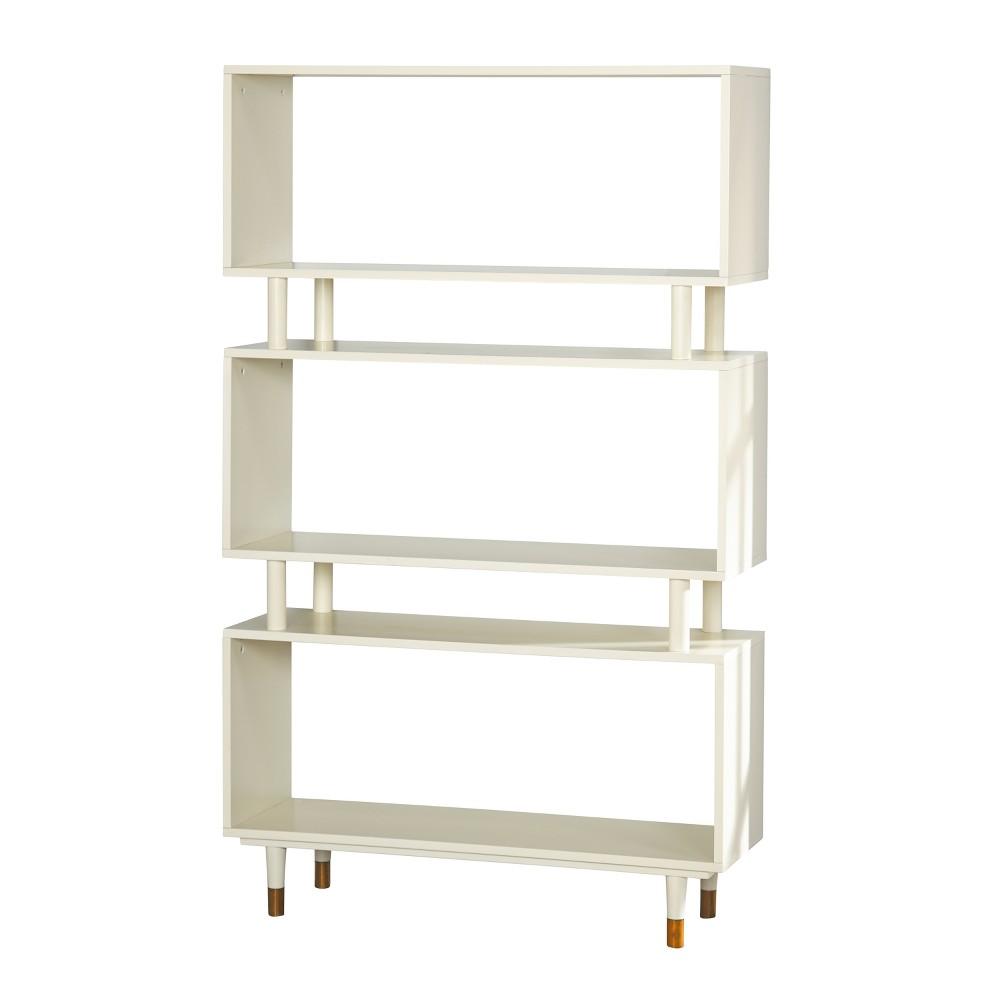 59.5 Trieste Bookshelf Antique White - Buylateral, Ivory