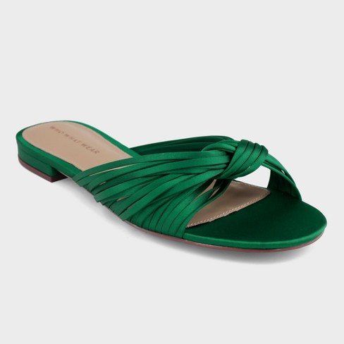 Women's Grace Satin Knotted Slide Sandals - Who What Wear™ - image 1 of 4
