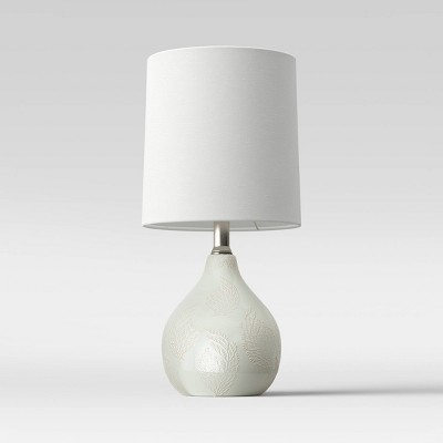 Pattern Ceramic Mini Lamp Mint (Includes Energy Efficient Light Bulb)- Threshold™