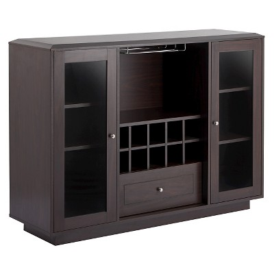 Charmant Candie Modern Multi Storage Dining Buffet With Glass Cabinets Espresso    HOMES: Inside + Out